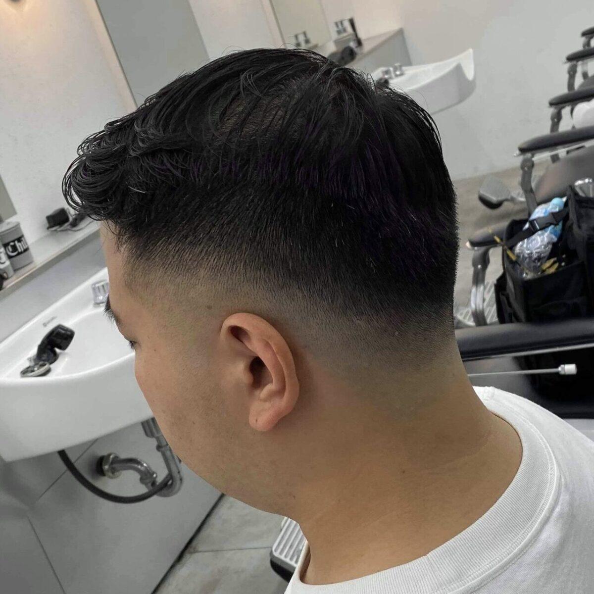 スキンフェードの髪型 薄毛